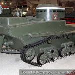 Малый плавающий танк Т-37А в музейном комплексе парка Патриот