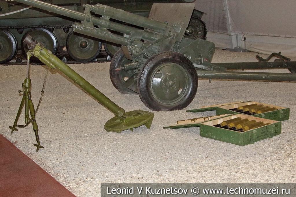 82-мм батальонный миномет БМ-37 (52-М-832Ш) образца 1937 года в музейном комплексе парка Патриот