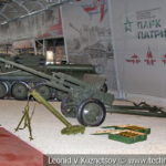 57-мм противотанковая пушка ЗиС-2 (52-П-271) образца 1943 года в музейном комплексе парка Патриот