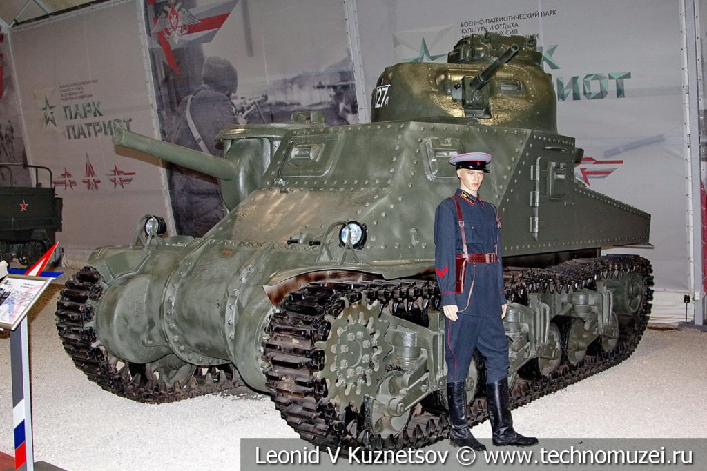 Американский средний танк M3 General Lee в музейном комплексе парка Патриот
