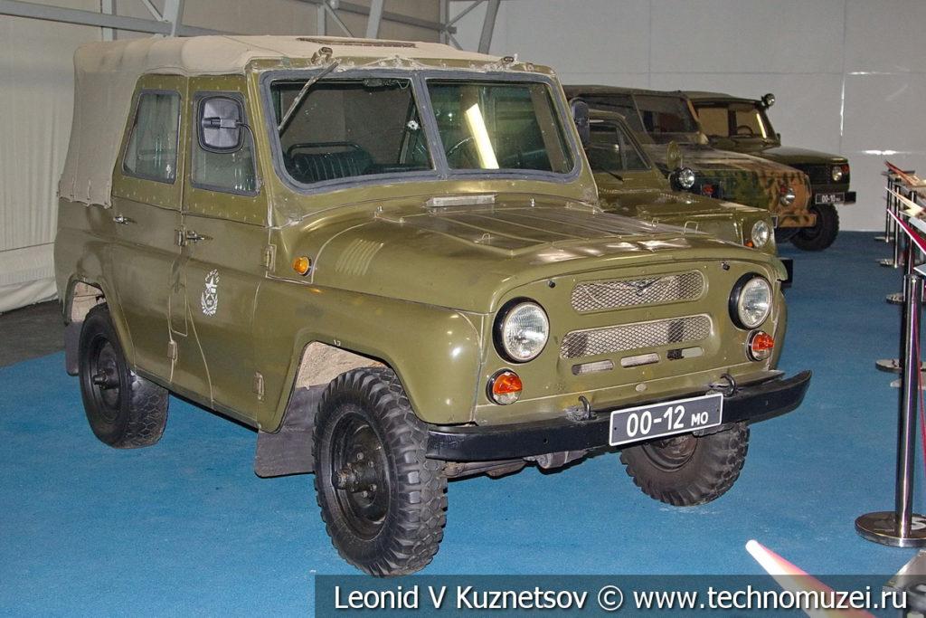 УАЗ-469 с бронированным кузовом в музейном комплексе парка Патриот