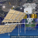 Телекоммуникационный спутник-ретранслятор 11Ф669 Луч в музейном комплексе парка Патриот