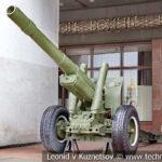 152-мм корпусная пушка-гаубица МЛ-20 (52-Г-544А) образца 1937 года в музее Победы на Поклонной горе