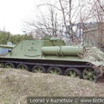 100-мм САУ СУ-100 образца 1944 года на позиции в музее Победы на Поклонной горе