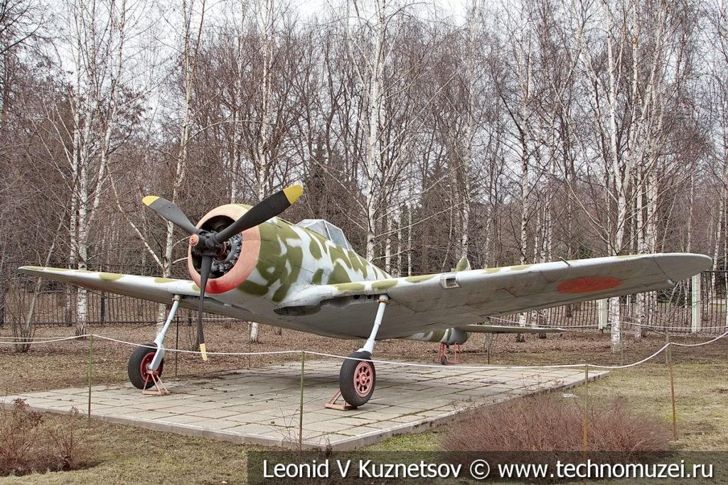 Японский истребитель Ki-43 Hayabusa 1938 года в музее Победы на Поклонной горе
