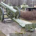 Японская 105-мм полевая пушка Type 38 1905 года в музее Победы на Поклонной горе