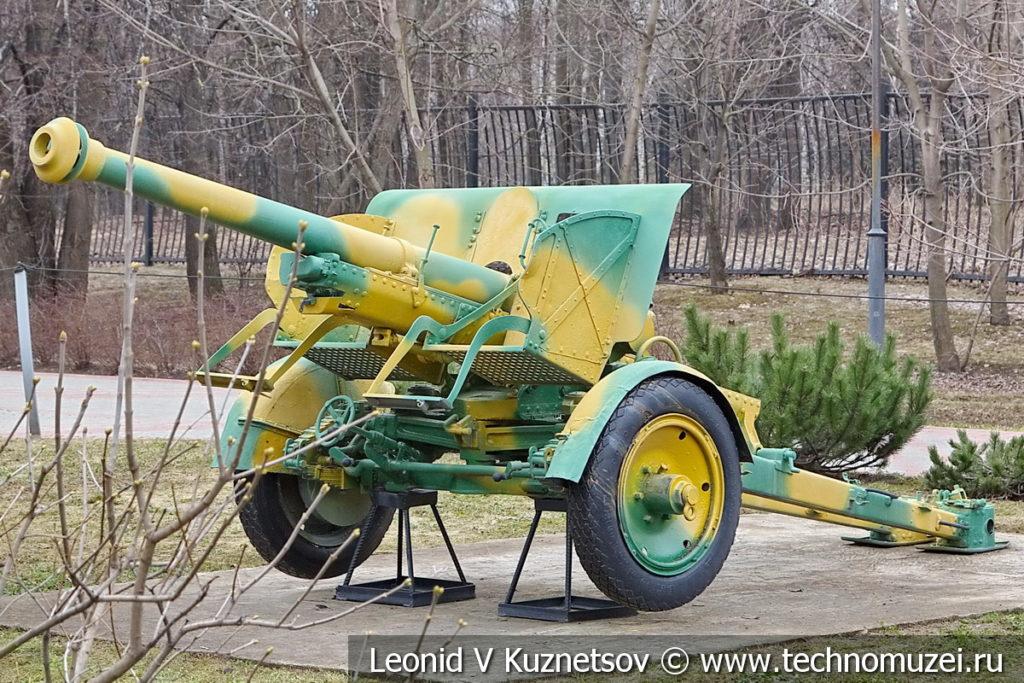 Японская 75-мм полевая пушка Type 90 1932 года в музее Победы на Поклонной горе
