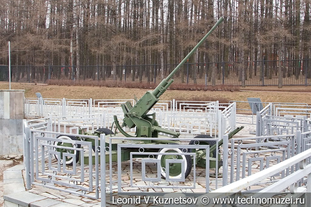 37-мм автоматическая зенитная пушка 61-К (АЗП-39) образца 1939 года в музее Победы на Поклонной горе