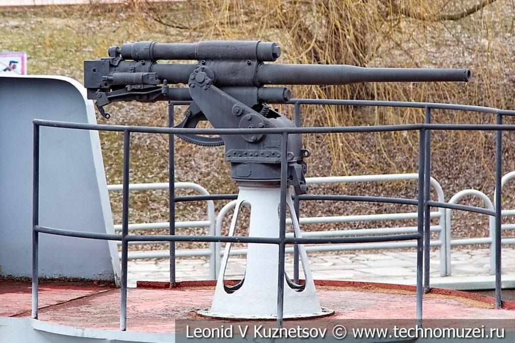 45-мм корабельная пушка 21-К образца 1934 года в музее Победы на Поклонной горе