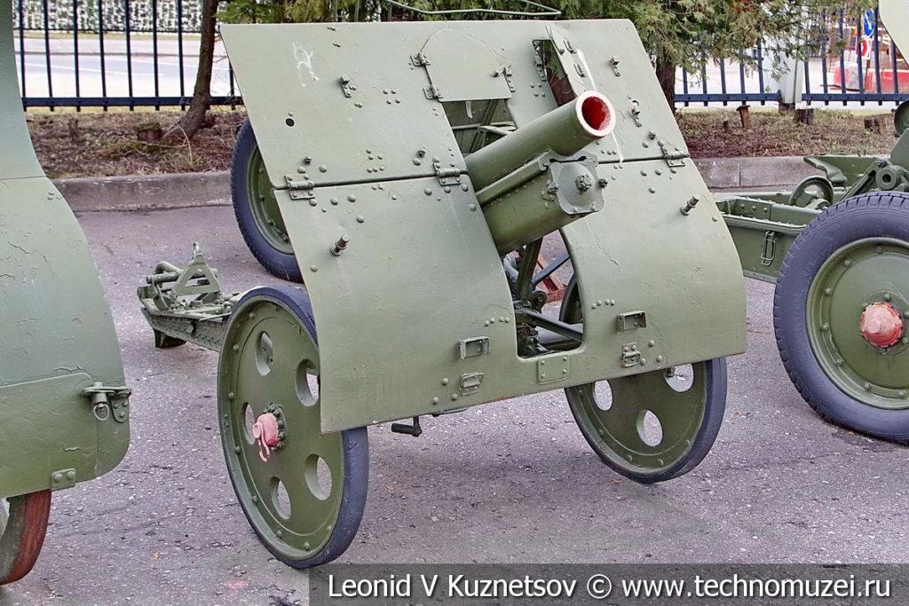 76-мм опытная батальонная горная гаубица 35-К 1935 года в музее Победы на Поклонной горе