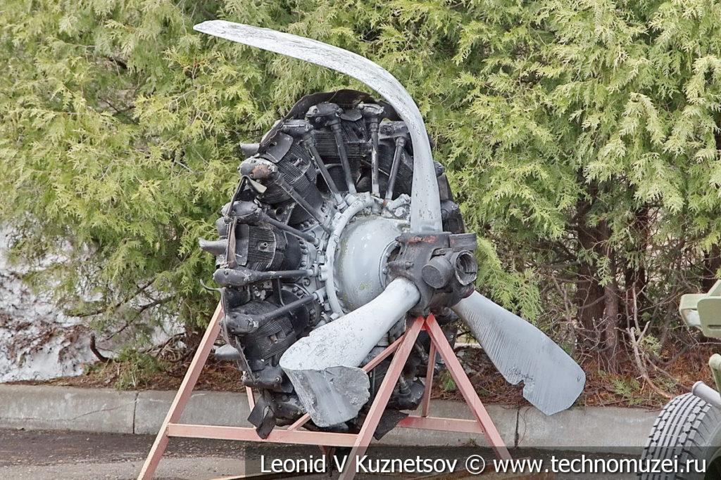 Авиационный двигатель М-62ИР в музее Победы на Поклонной горе