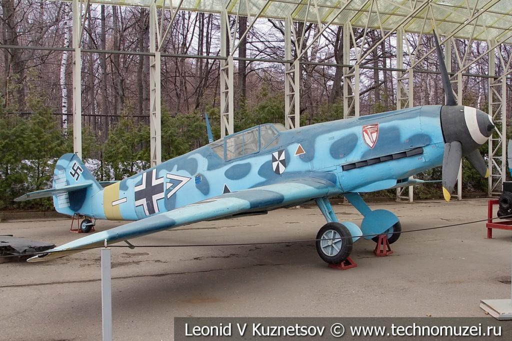 Немецкий истребитель Messerschmitt Bf.109F-2 в музее Победы на Поклонной горе