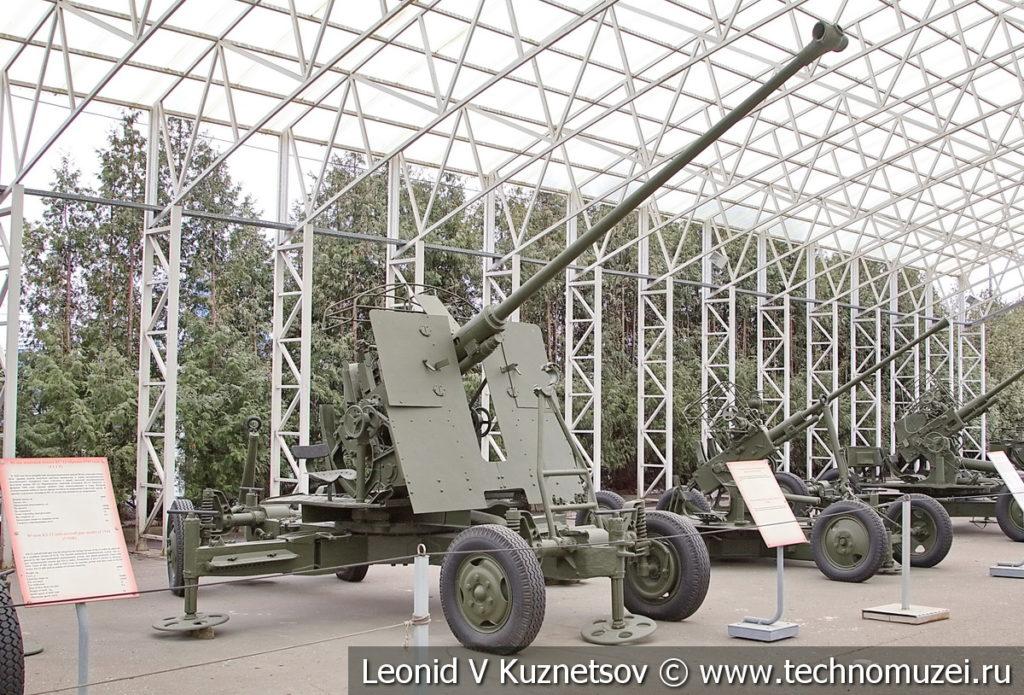 57-мм опытная автоматическая зенитная пушка 1944 года в музее Победы на Поклонной горе