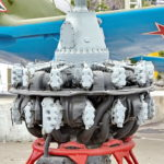 Авиационный двигатель Pratt and Whitney R-1830 Twin Wasp 1932 года в музее Победы на Поклонной горе