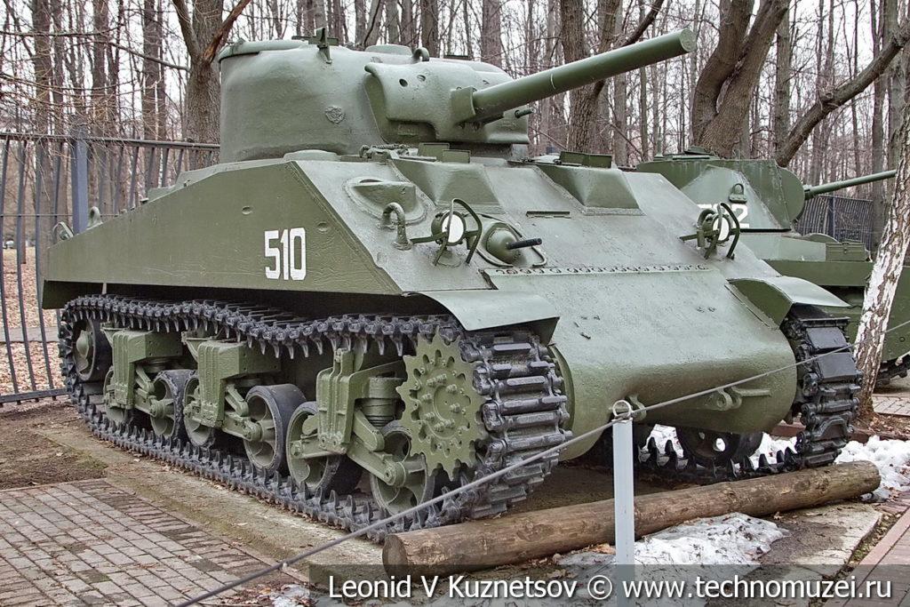 Средний танк Sherman M4A2 1942 года в музее Победы на Поклонной горе