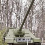 100-мм САУ СУ-100 образца 1944 года в музее Победы на Поклонной горе