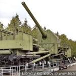 180-мм железнодорожный артиллерийский транспортёр ТМ-1-180 1934 года в музее Победы на Поклонной горе