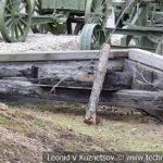 Деревянный двухотвальный угольник-снегоочиститель в музее Победы на Поклонной горе