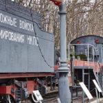 Гидроколонка для заправки паровозов в музее Победы на Поклонной горе