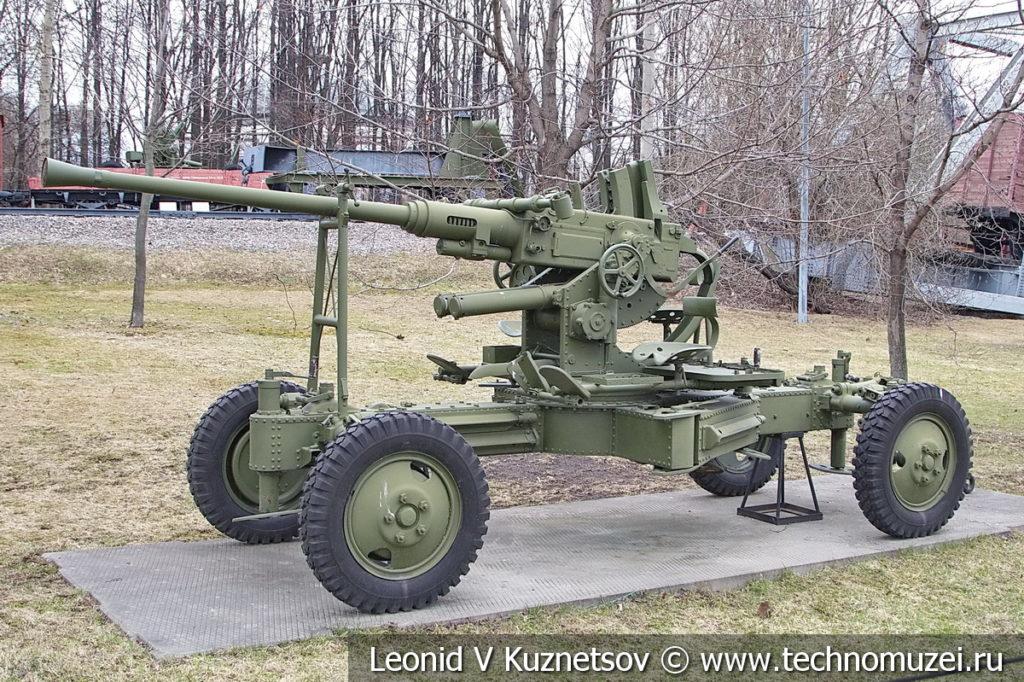 40-мм польская зенитная пушка Bofors WZ 36 1939 года в музее Победы на Поклонной горе