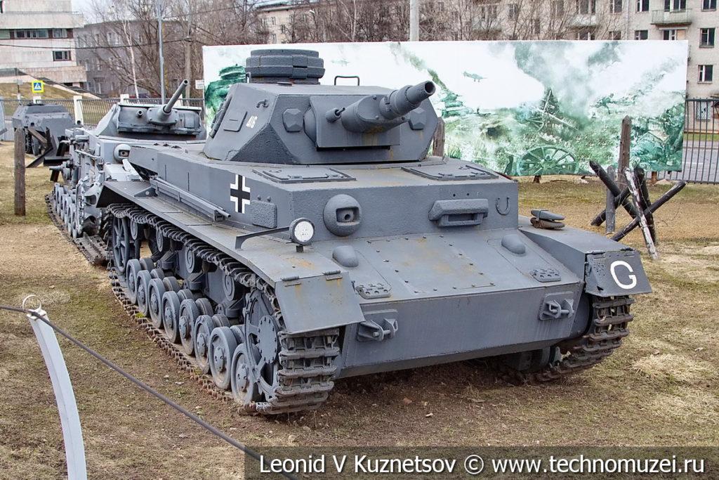 Немецкий танк T-IV Pz Kpfw IV Ausf F1 в музее Победы на Поклонной горе