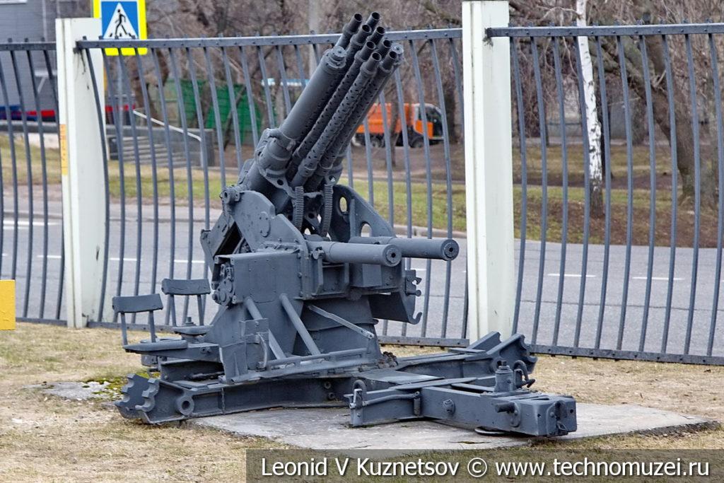 Немецкая 20-мм опытная зенитная восьмиствольная пушка SMK-18 V1 Type 4 в музее Победы на Поклонной горе
