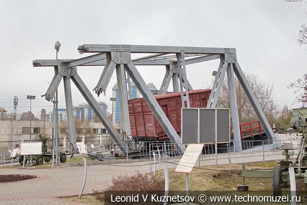 Взорванный железнодорожный ферменный мост в музее Победы на Поклонной горе
