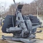 Немецкая 37-мм зенитная автоматическая пушка Flak 43 1943 год в музее Победы на Поклонной горе