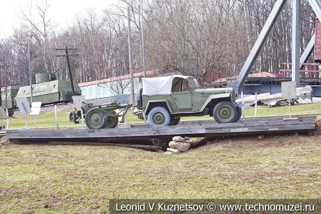Деревянный низководный мост в музее Победы на Поклонной горе