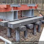 Временный железнодорожный мост с ездой поверху в музее Победы на Поклонной горе