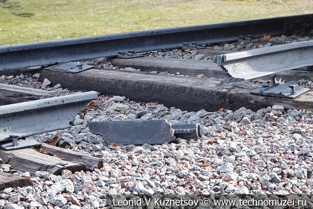 Взорванный железнодорожный путь в музее Победы на Поклонной горе