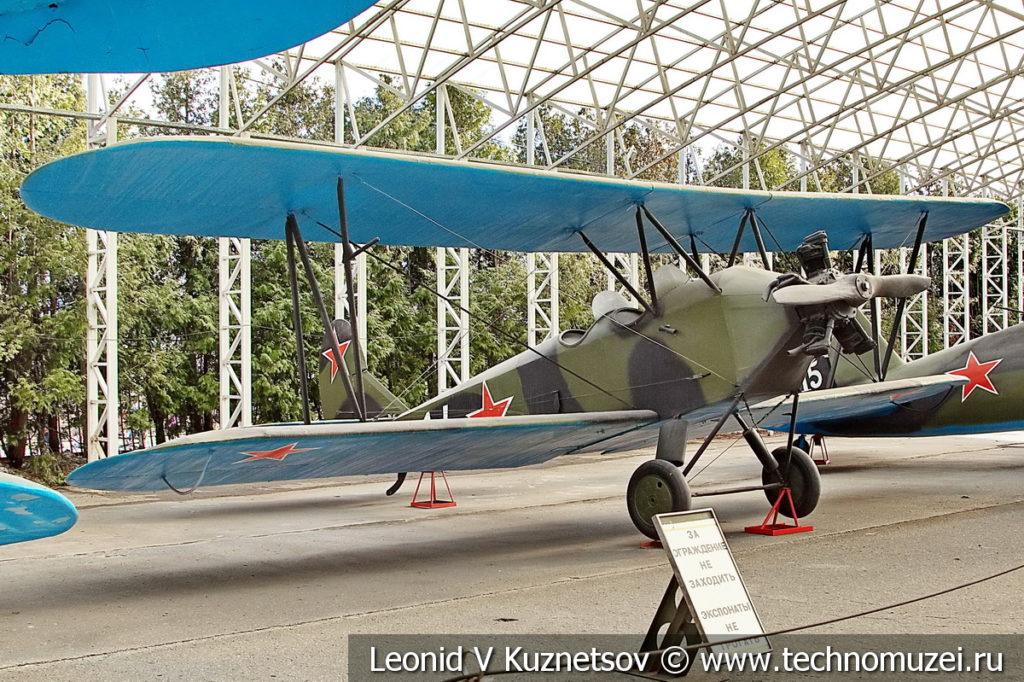 Учебно-тренировочный самолёт У-2 (По-2) 1928 года в музее Победы на Поклонной горе