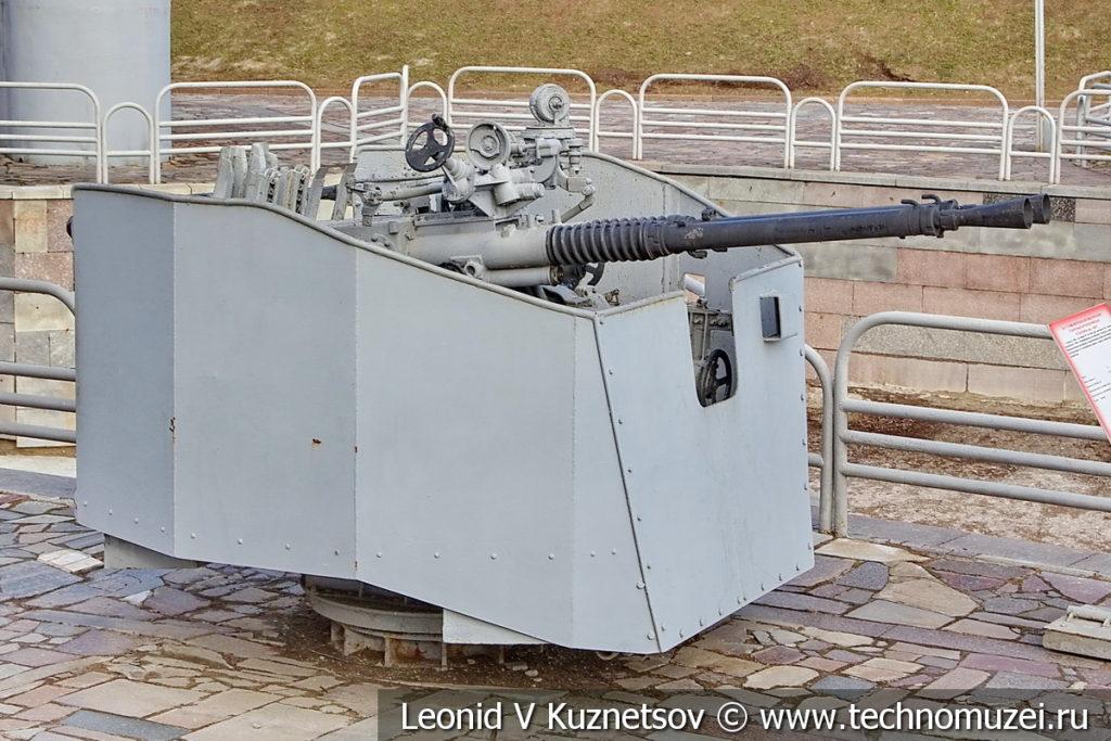37-мм корабельное зенитное орудие В-11 образца 1946 года в музее Победы на Поклонной горе
