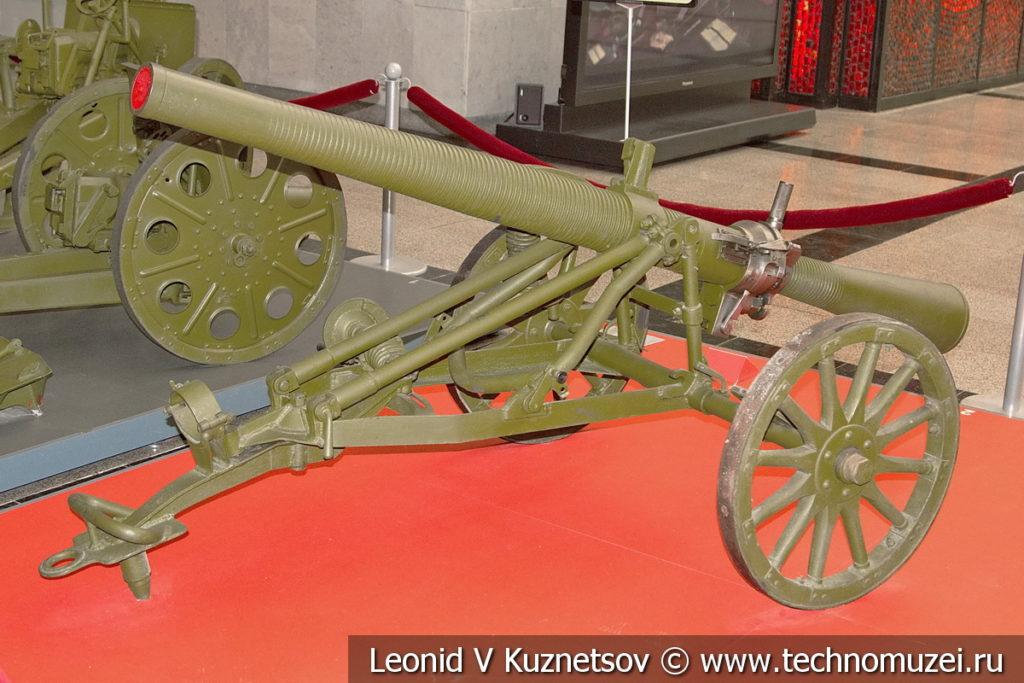 76-мм опытная динамореактивная батальонная пушка Курчевского 1935 года в музее Победы на Поклонной горе