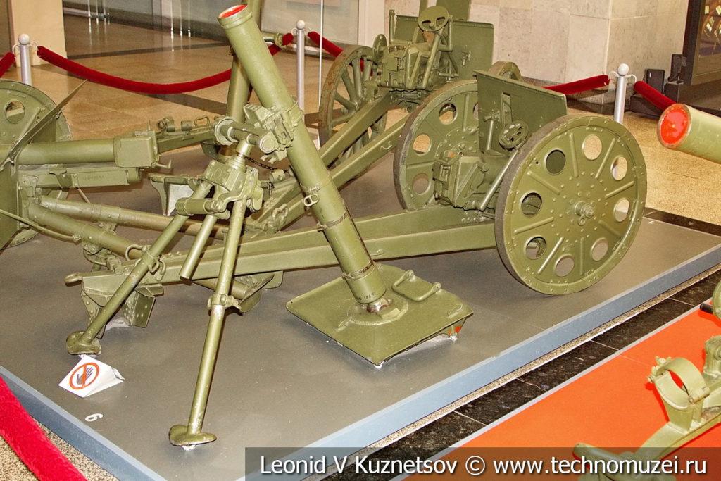 Немецкий 81-мм миномет sGrWr 34 1934 года в музее Победы на Поклонной горе
