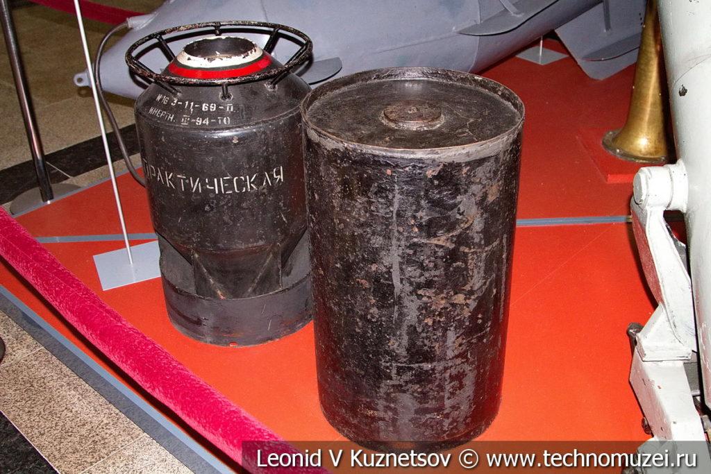Глубинные бомбы в музее Победы на Поклонной горе