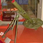 107-мм полковой горно-вьючный миномёт ГВМП-107 образца 1938 года в музее Победы на Поклонной горе