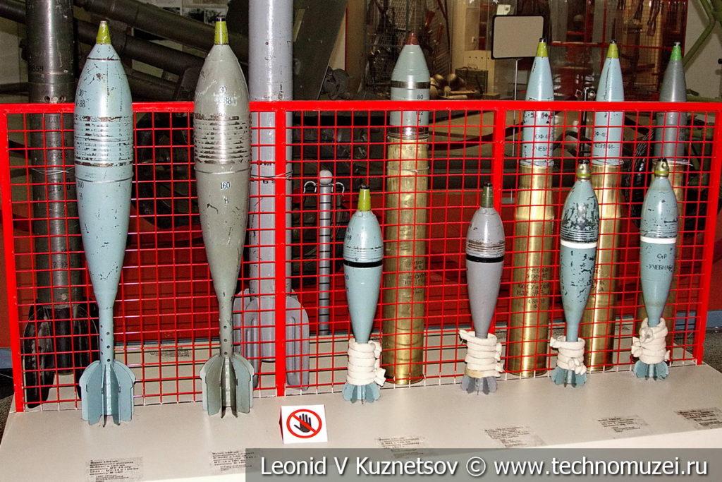 Артиллерийские боеприпасы в музее Победы на Поклонной горе
