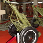 107-мм полковой горно-вьючный миномёт образца 1938 года в музее Победы на Поклонной горе