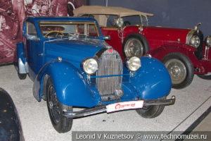 Bugatti Type 57 Coach Ventoux 1935 года в автомузее Моторы Октября в Москве