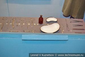 Стенды о полевых госпиталях в Музее обороны Москвы