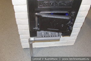 Дровяная печь дооборудованная для работы на газе в музее магистрального транспорта газа