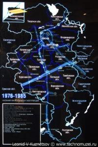 Интерактивный стенд развития газотранспортной сети России в музее магистрального транспорта газа