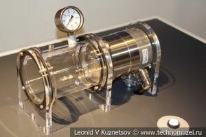 Макет осевого компрессора газовой турбины в музее магистрального транспорта газа