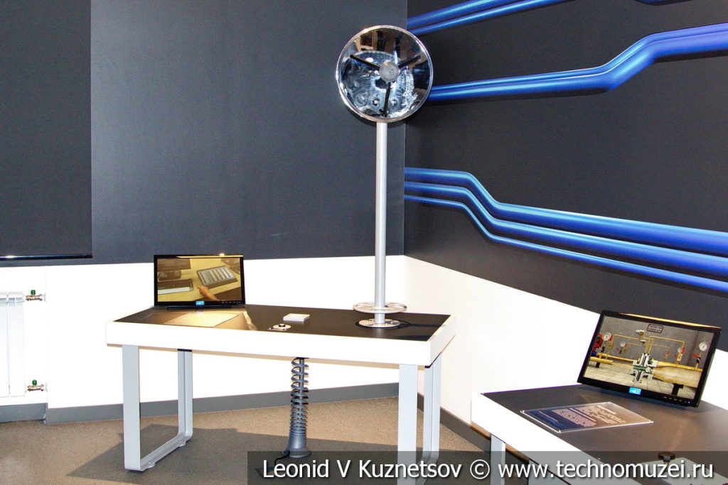 Стенд Система связи на газопроводе в музее магистрального транспорта газа