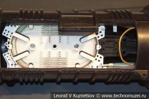 Соединительные муфты для волоконно-оптических кабельных линий в музее магистрального транспорта газа