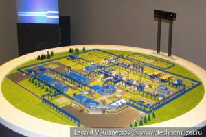 Макет компрессорной станции Волоколамская в музее магистрального транспорта газа