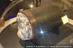 Труба с гидратной пробкой в музее магистрального транспорта газа