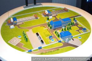 Макет газоизмерительной станции Суджа в музее магистрального транспорта газа