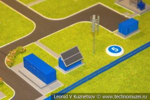 Макет газораспределительной станции с автономным энергопитанием в музее магистрального транспорта газа